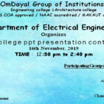 Intra-College PPT Presentation Contest
