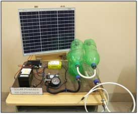Solar powered Air Compressor: