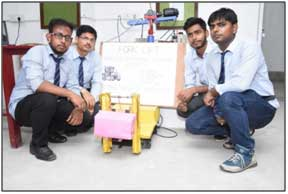 Fork Lift Controlled by Remote Sensing Technology