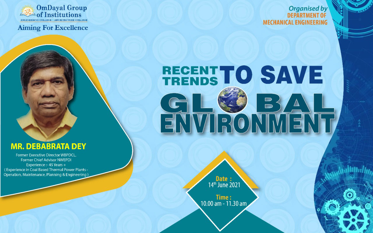 Recent Trends to Save Global Environment - Webinar