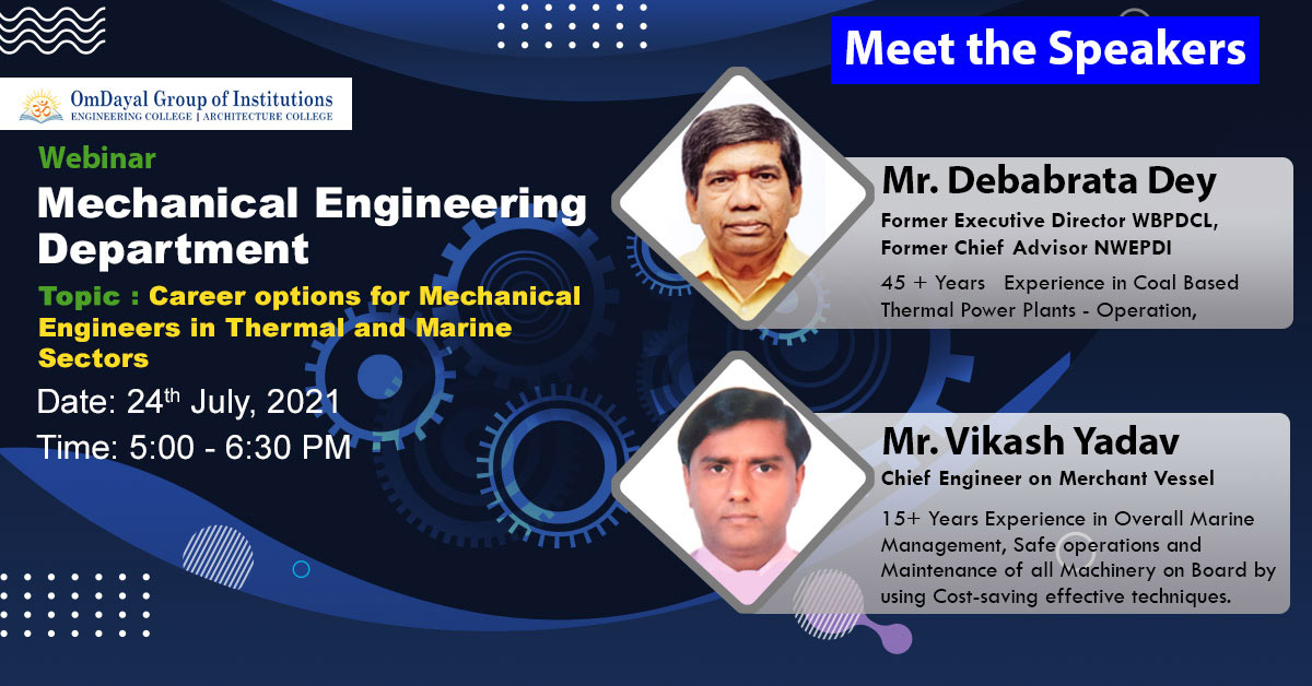 Career options for Mechanical Engineers in Thermal and Marine Sectors