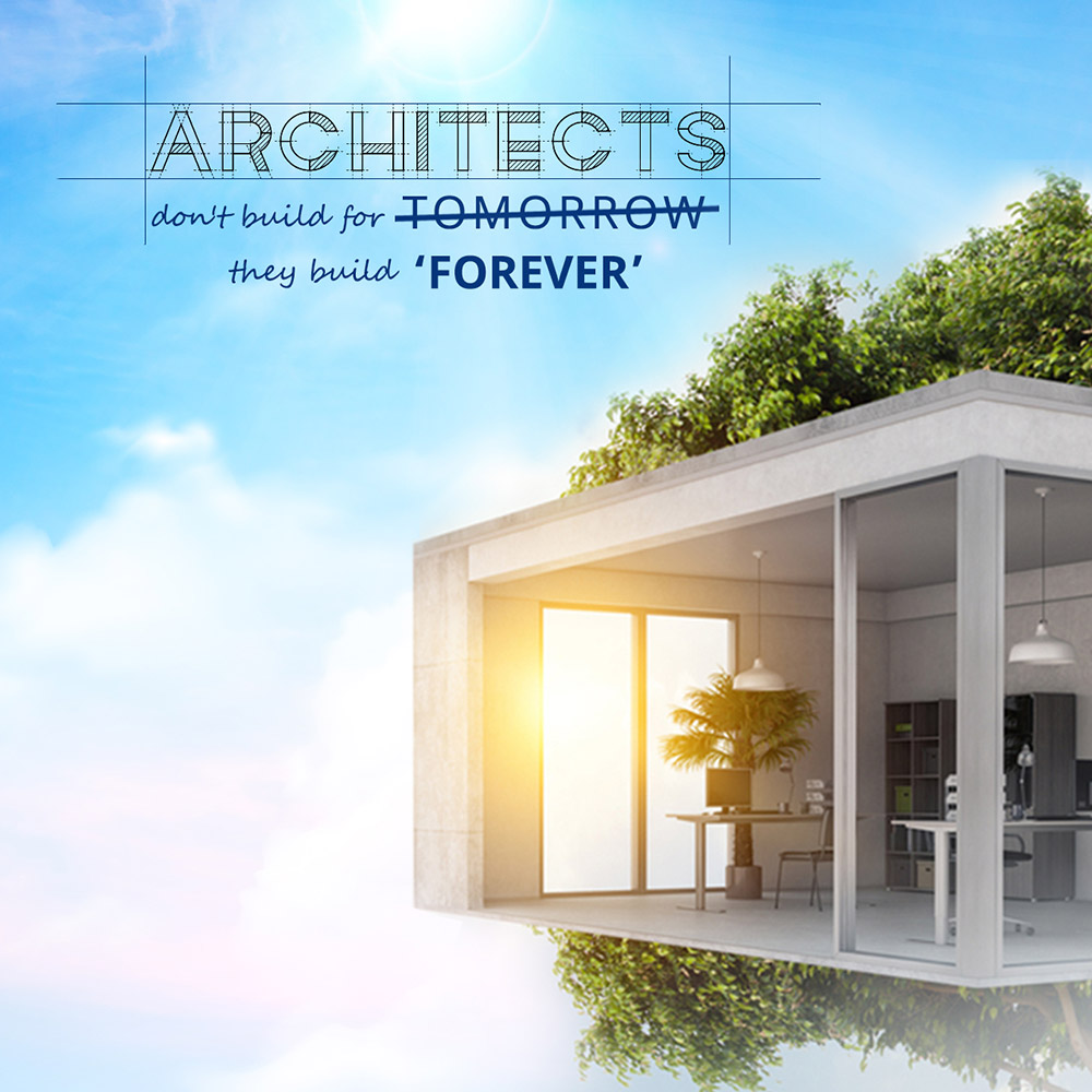 Eco-friendly architecture: sustaining the future Banner